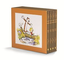 The Complete Calvin and Hobbes, 4 Books, Orange and Black Box
