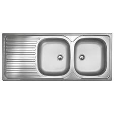 ED 500 Plus   Spüle Edelstahl 2 Becken Spülbecken Doppelbecken Küchenspüle