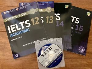 2020 Published Cambridge Academic IELTS books 12,13,14,15 with DVD/Academic Ver