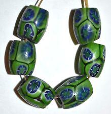 Antique Venetian Millefiori Italian Glass Murrine Cane Oval Beads, African Trade