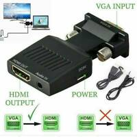 HDMI Female to VGA Male Converter w/ Audio Adapter Support 1080P Signal Output !
