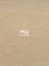 SOLID HEAVY POWER MESH POLYESTER SPANDEX FABRIC - Nude - BY YARD APPAREL