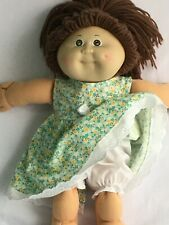 """16"""" CABBAGE PATCH Dolls Clothes / DRESS & BLOOMERS / green floral"""