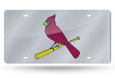 St Louis Cardinals MLB Silver Glitter LOOK 12x6 Laser License Plate Tag