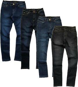 Womens ZARA Jeans Mid Rise Stretch Denim Skinny Leg Comfort 4 Colours 8-18