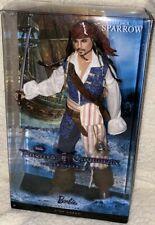 Mattel Captain Jack Sparrow Disney Ken Barbie Doll Pirates Caribbean Johnny Depp