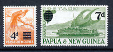 PAPUA & NEW GUINEA 1957 DEFINITIVES SG16/17 OVERPRINTS IMPRINT BLOCKS OF 4 MNH