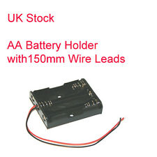 Tripple Aa Batterie Support - 150 mm Wire Leads - (3 x AA Holder)
