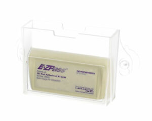 EZ Pass Toll Tag Holder Windshield Mount fits E-ZPass, i Pass & C Pass - Clear