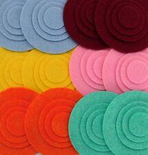 Flower Frenzy - 48 Die Cut Wool Blend Felt Circles