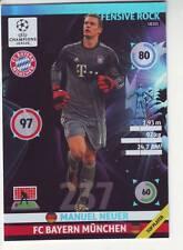 PANINI FOOT TRADING CARD CHAMPIONS LEAGUE  MANUEL HEUER FC BAYERN MUNCHEN