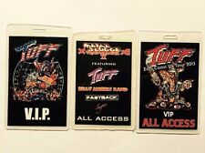 Tuff tour laminates signed by Stevie Rachelle Hairbands Glam Rock Hollywood 80s