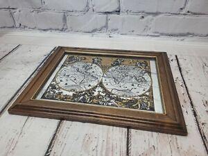Vintage Mirror Mappe Monde Du Globe 1792 Elwe Classic Map Art