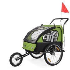 Convertible jogger remorque velo 2en1 jaune noir jusqu'a 2 enfants amortisseur Vert Noir