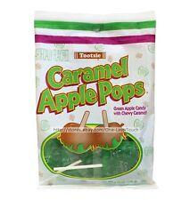 TOOTSIE 3.75 oz Bag CARAMEL APPLE POPS Green Candy+Caramel LOLLIPOPS Exp.8/17+