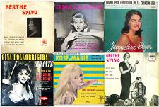 Lot de six 45 tours, variétés des années 50 !