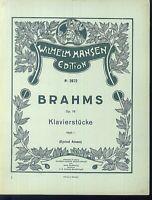 BRAHMS : Klavierstücke op. 76 Heft 1