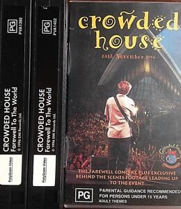 VHS Crowded House Farewell to the World Sydney Opera House