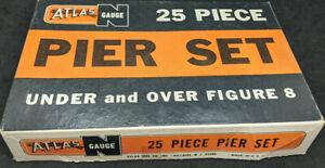 Vintage Atlas N Scale 25 Piece Pier Set, boxed