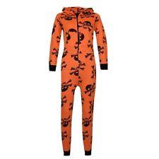 Pyjamas orange pour garçon de 2 à 16 ans en 100% coton