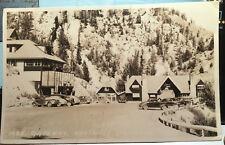Kootenay National Park, British Columbia CANADA Photo Post Card 1949 AUTOS LODGE