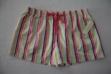 NEW Womens Sleep Shorts Pajamas Plus Size 2X Striped Lounge PJs Bottoms