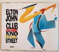 ELTON JOHN : CLUB AT THE END OF THE STREET ♦ RARE 1990 CD-MAXI ♦