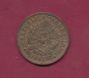 1895, Argentinien  dos Centavos (Cu) Münze P.33 TT6329 , VZ++