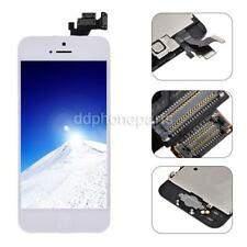 White LCD Screen Touch Digitizer + Frame + Home Button Front Camera For iPhone 5