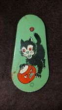 Vintage tin Cat Halloween Noise Maker