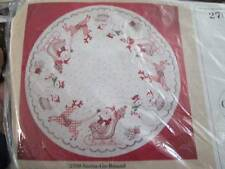 Santa-Go-Round Tree Skirt/Table Cover Embroidery KIT-42 Inches Round, Creative C