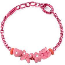 Bracciale Morellato Drops Colours SABZ163 Allum. rosa 4 charms (List. €. 35,00)