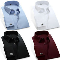 New fashion Mens Luxury Casual Slim Stylish Dress Shirts 4Colours 7Size UST6332