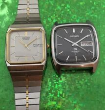 Vintage Men's SEIKO Quartz Wristwatches,All Stainless Steel