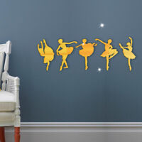 KE_ GT- DIY Acrylic Ballet Girls Wall Stickers Mirror Wall Decal Art Home Room