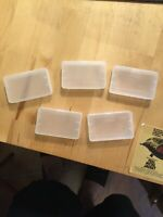 Set Of 5 Protective Plastic Game cases For Nintendo Gameboy Advance GBA New