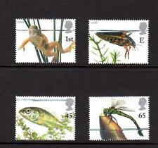 2001 GB Europa vida estanque estampillada sin montar o nunca montada sello conjunto Rana Escarabajo peces SG 2220-2223 QEII