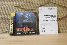 Mortal Kombat 2 II Complete Set! Sega Saturn SS Japan Very Good+ Condition!
