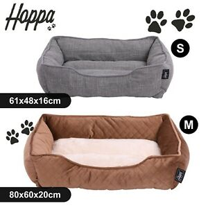 Hoppa Ultra Soft Dog & Cat Pet Bed Basket Comfy Petbed Machine Washable Non Slip