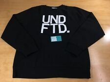 UNDEFEATED UNDFTD BLOCK LETTERS PULLOVER CREWNECK SWEATER BLACK XL 5 STRIKES