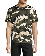 Valentino Camuflaje Hombre Algodón T Camiseta M