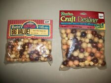 2 bags -- Darice Big Value assorted natural-finish wood craft/jewelry beads