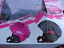 No Fear-Snowboard Et Ski Casque De Ski-Noir & Rose - 56-58 cm-Junior Filles-Neuf