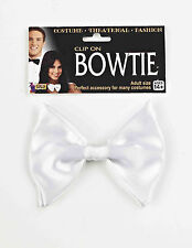 White Bow Tie Clip On Formal 20's Hollwood Costume Accessory
