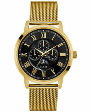 NEW Guess Men's Gold Tone Stainless Steel Mesh Bracelet Watch U0871G2- NEW