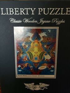 "Liberty Classic Wooden Jigsaw Puzzle ""Shalom Hamsa"" by Lynon Aksamit 463 pieces!"