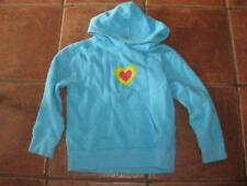 Girls bright blue hearts hoody OLD NAVY sweatshirt 8years VGC