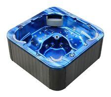 Minipiscina Idromassaggio ad acqua e aria luci led 215x215 cm 52 getti a 5 posti