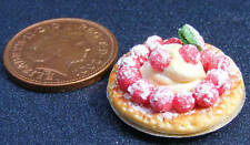 1 12 Scale Strawberry & Ice Cream Flan Dolls House Miniature Food Accessory D1