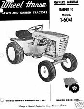 Wheel Horse Raider 10 Owners Manual Model 1-6041